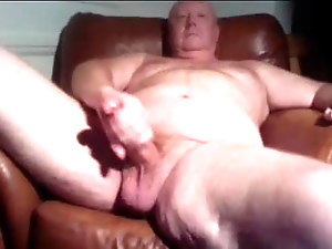 Kingofrim Mature grandpa jerks off and unloads his cum