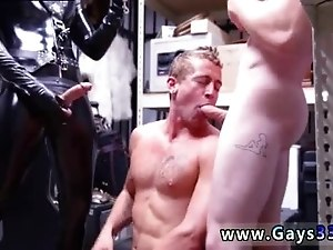 Straight latino guys bored go gay with huge dick Dungeon sir with a gimp