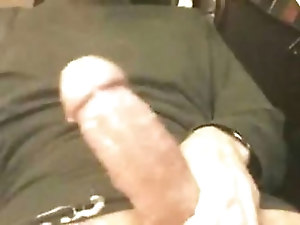 Little cumshot from big cock